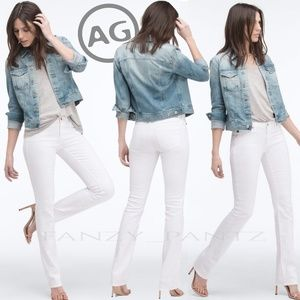 AG jeans 'Ballad' 27 x 32 white mid-rise stretch
